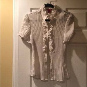 Sheer cream top sz XL
